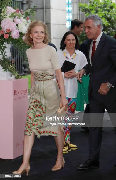 Pilar González de Gregorio attends 'Balenciaga Y La Pintura Española' exhibition opening on June 17 2019 in Madrid Spain