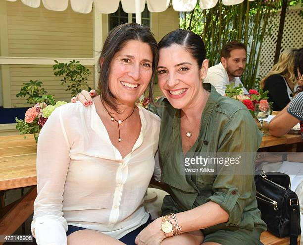 Pilar Guzman and Adriana Alberghetti attend Conde Nast Traveler Hosts Private Lunch At San Vicente Bungalows With Jeff Klein Pilar Guzman And Lisa...