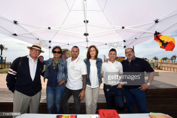 EL VENDRELL TARRAGONA SPAIN Pilar Herrero candidate number 2 from the political group Vox seen along with her team of assistants for the mayor of El...