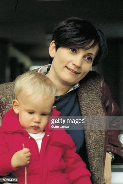 Pilar Miro next to her son Gonzalo