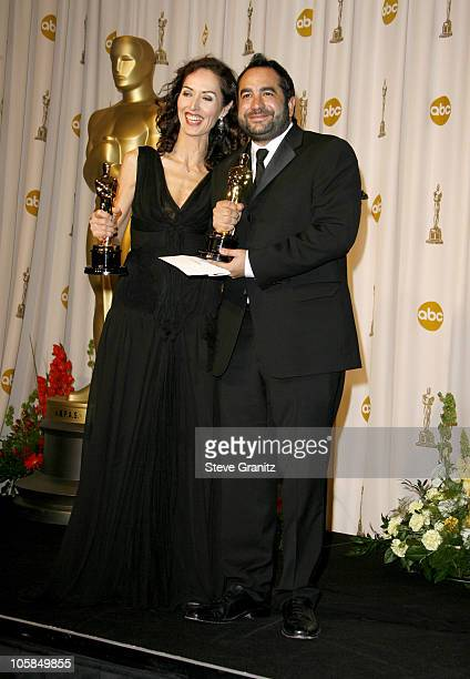 """Pilar Revuelta and Eugenio Caballero, winners Best Art Direction for """"Pan's Labyrinth"""""""
