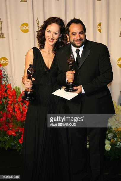 Pilar Revuelta and Eugenio Caballero, winners Best Art Direction for 'Pan's Labyrinth' at the seventy ninth Annual Academy Awards. Alan...