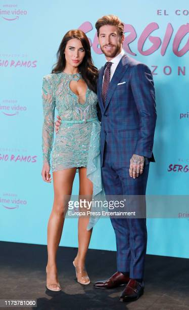 Pilar Rubio and Sergio Ramos attend El Corazon de Sergio Ramos premiere at the Reina Sofia museum on September 10 2019 in Madrid Spain