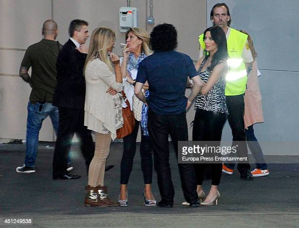 Pilar Rubio attends Rolling Stones's concert at Estadio Santiago Bernabeu on June 25 2014 in Madrid Spain