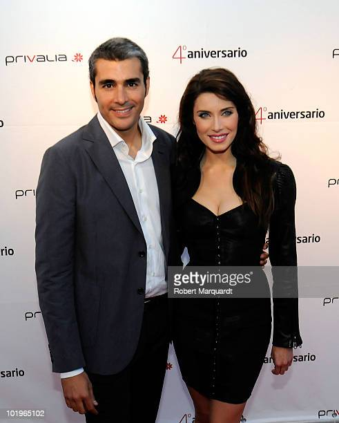 Pilar Rubio attends the 'Privalia' 4th anniversary party at the Mellow Beach Club on June 10 2010 in Barcelona Spain
