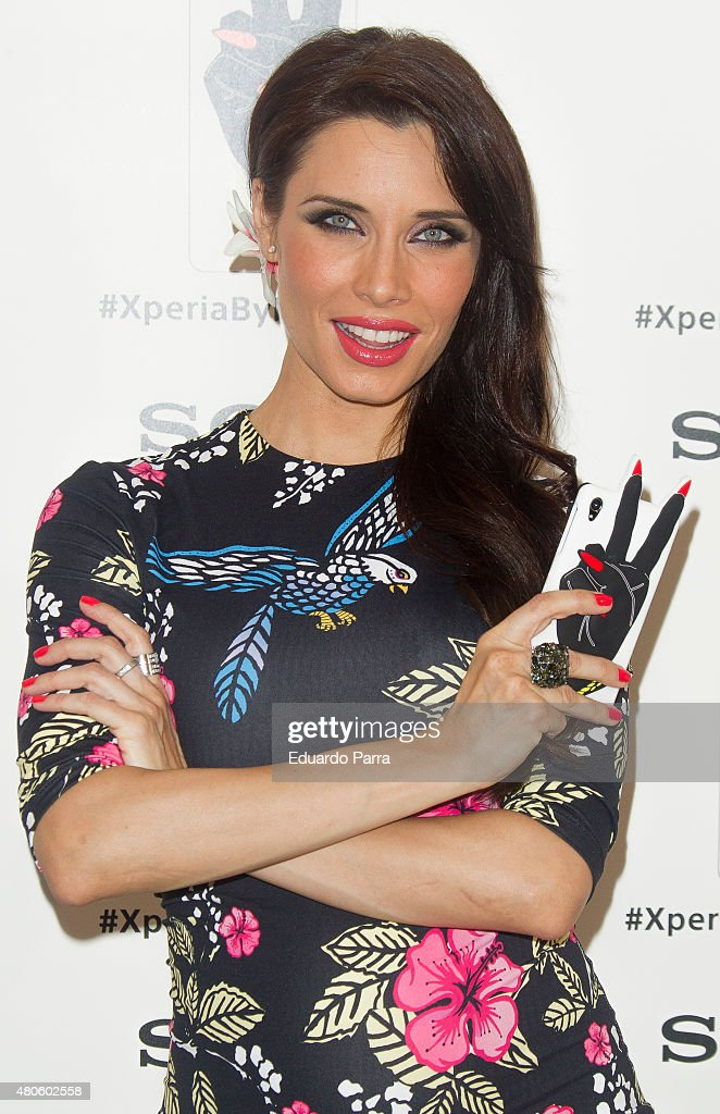 Pilar Rubio attends the Xperia by Maria Escote campaign photocall at The Hat bar on July 13, 2015 in Madrid, Spain.