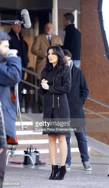 Pilar Rubio is seen filming a commercial on December 11 2013 in Madrid Spain
