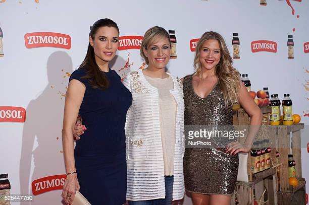 Pilar Rubio Patricia Montero and Luj��n Arg��elles presents the rebirth of the brand on May 20 2015 in theaters Zumosol callus of Madrid Spain