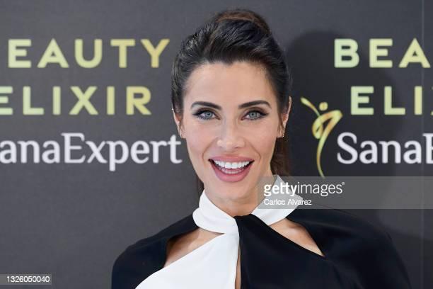 Pilar Rubio presents 'Beauty Elixir' on June 29, 2021 in Madrid, Spain.