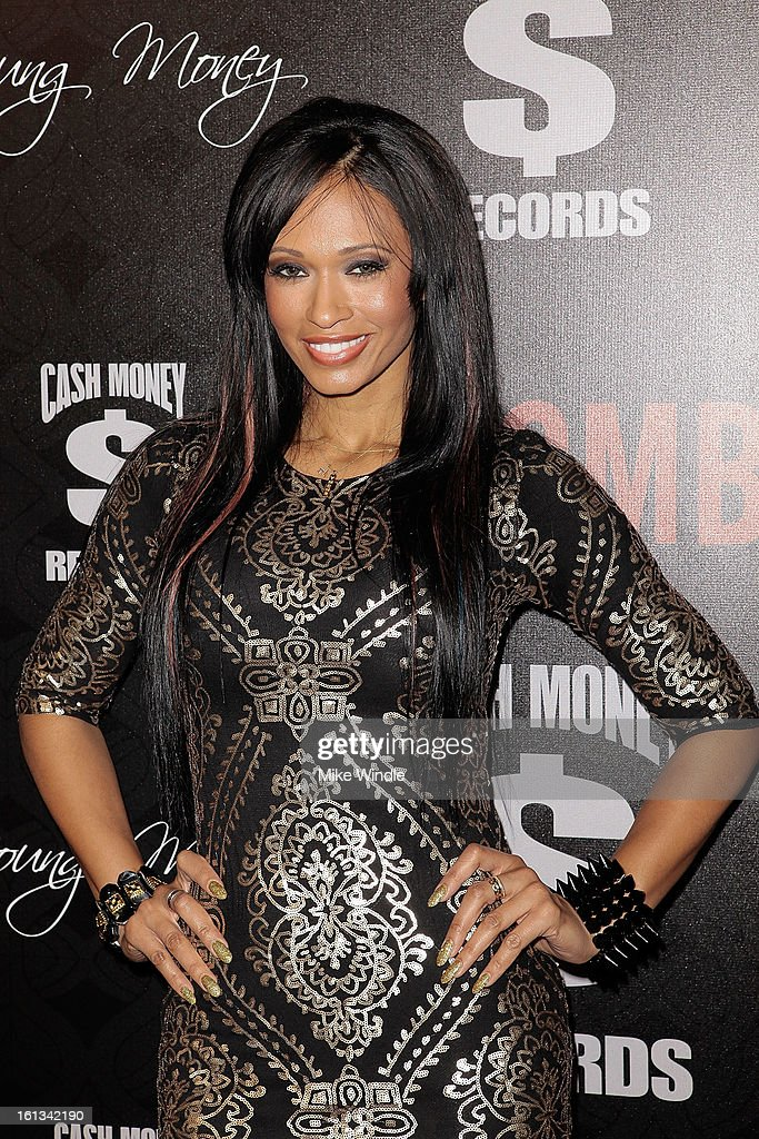 Pilar Sanders arrives at the Cash Money Records 4th annual pre-GRAMMY Awards party on February 9, 2013 in West Hollywood, California.