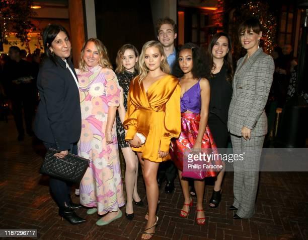 Pilar Savone Liz Tigelaar Megan Stott Jade Pettyjohn Jordan Elsass Lexi Underwood Lauren Levy Neustadter and Rosemarie DeWitt attend the Hulu LA...