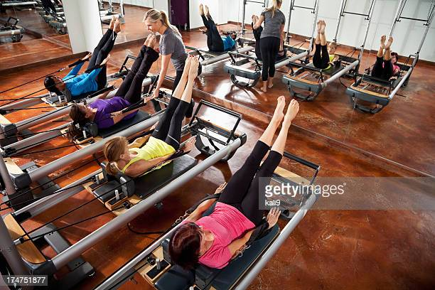 pilates class - pilates stock pictures, royalty-free photos & images