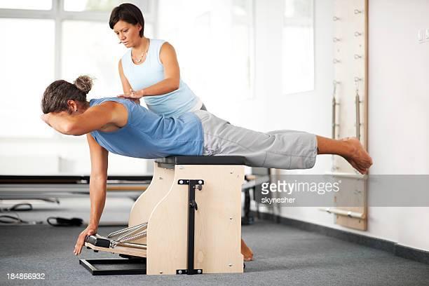 Pilates exercise.