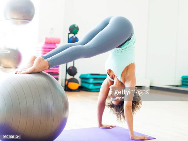 Pilates Exercise with Swiss Ball