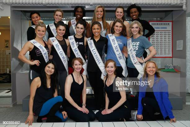 Pilates on Fifth owners Katherine Corp and Kimberly Corp, Miss America 2018 pageant contestants Miss Iowa 2017 Chelsea Dubczak, Miss Georgia 2017...