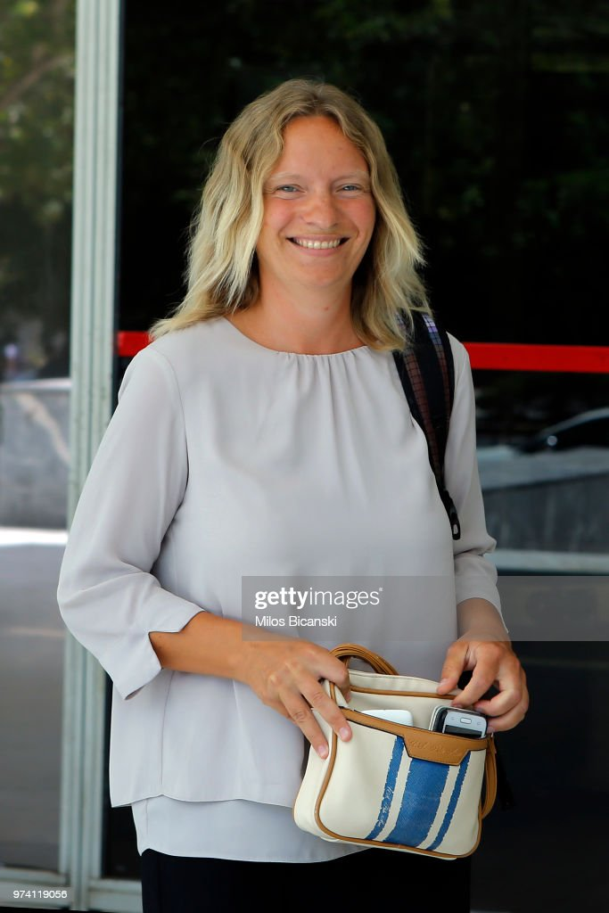 Pilatus Bank whistle-blower Maria Efimova smiles as she leaves the court building on June 14, 2018 in Athens, Greece. The Greek Supreme Court have made the decision not to approve the extradition of Maria Efimova to Malta. Maria Efimova is named as a key informer of Caruana Galizia, the Maltese investigative journalist who was killed in car bomb last October in Malta. Caruana Galizia was reporting on corruption in Malta in the time when she was killed.