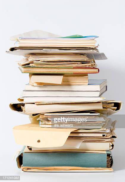 Pile of accumulated paperwork