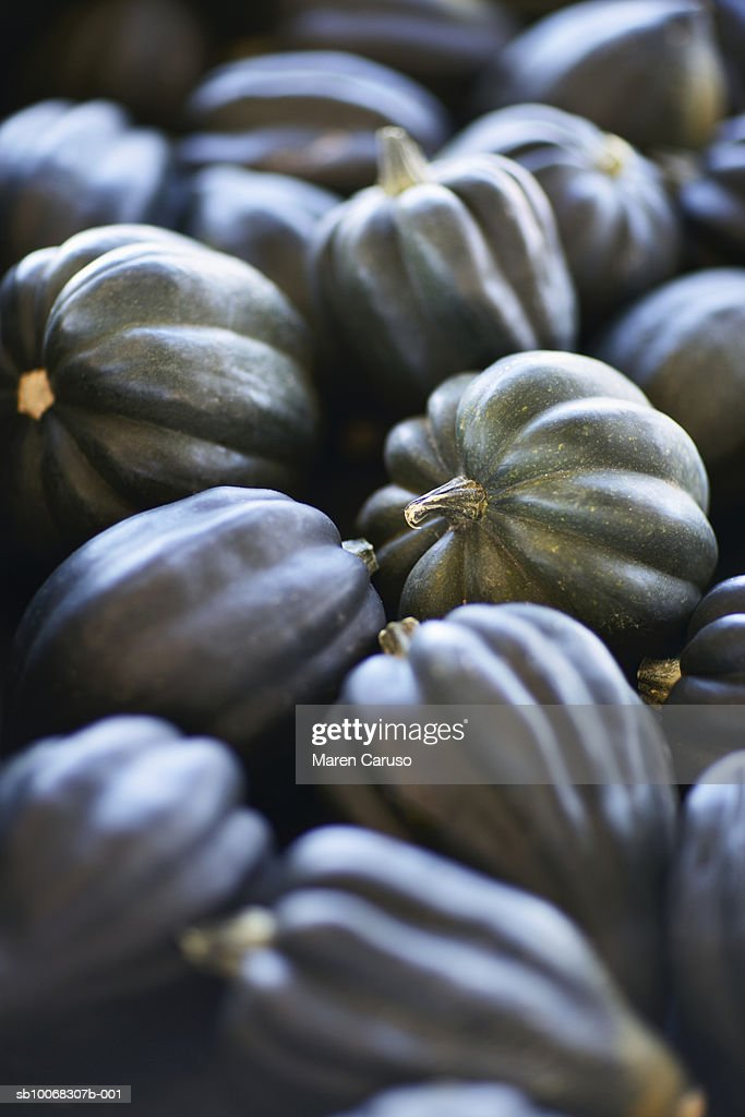 Pile of acorn squash, close-up : Stock Photo