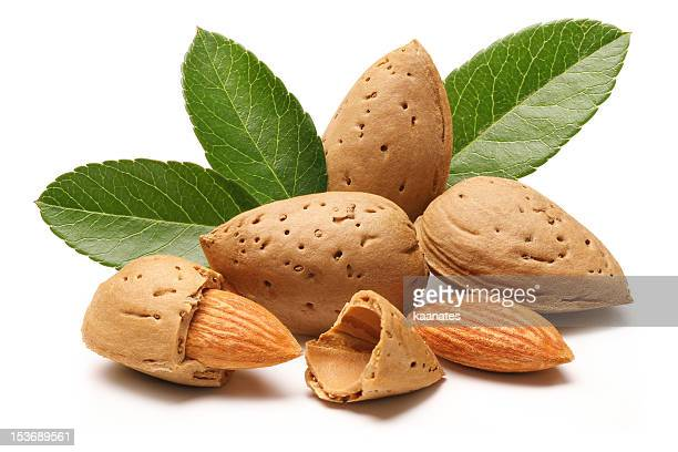 pile of almonds - almond stock pictures, royalty-free photos & images