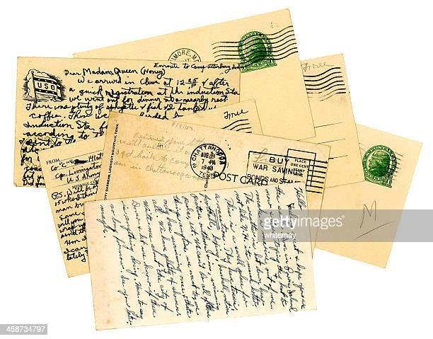 pila de american servicemen de postales, la segunda guerra mundial (world war dos - editorial fotografías e imágenes de stock