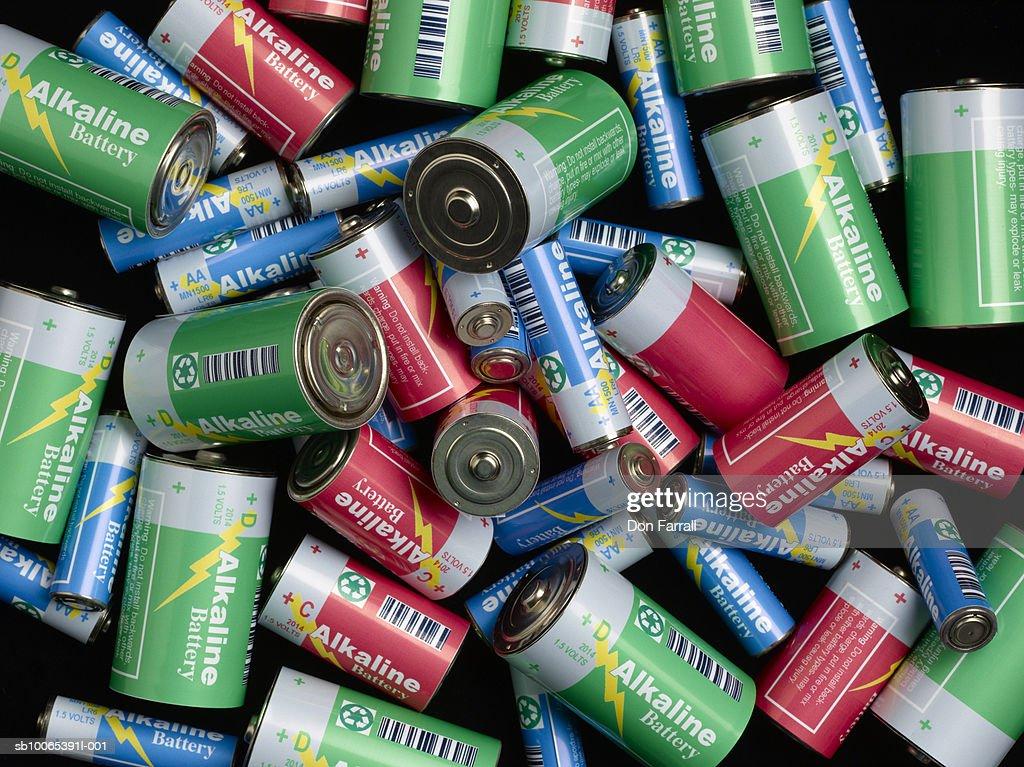 Pile of batteries : Foto stock