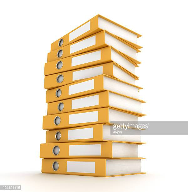 pile of binders - ring binder stock pictures, royalty-free photos & images