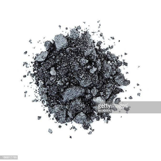 pile of black color eye shadow - eyeshadow stock pictures, royalty-free photos & images