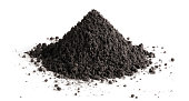 Pile of black soil
