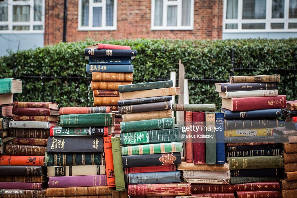 content a pile of books on portobello road market a flew market in news photo getty images. Black Bedroom Furniture Sets. Home Design Ideas