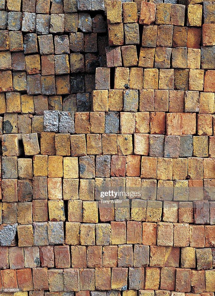 Pile of bricks : Stock Photo
