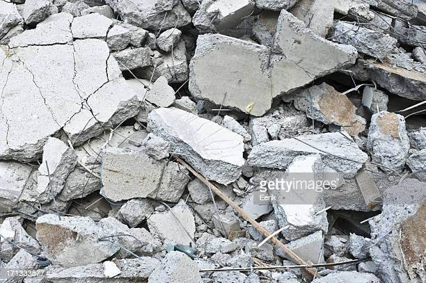 Pile of broken concrete