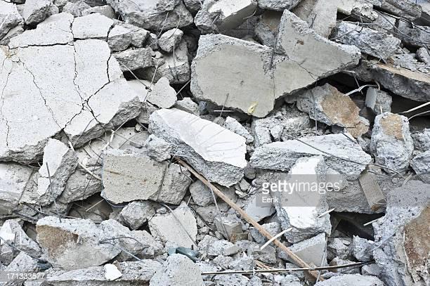 Pilha de cimento partidos