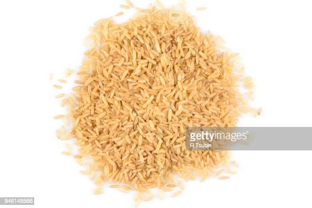 pile of brown rice - arroz integral - fotografias e filmes do acervo