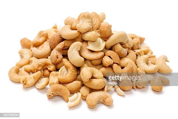 Haufen von Cashew-Nüssen
