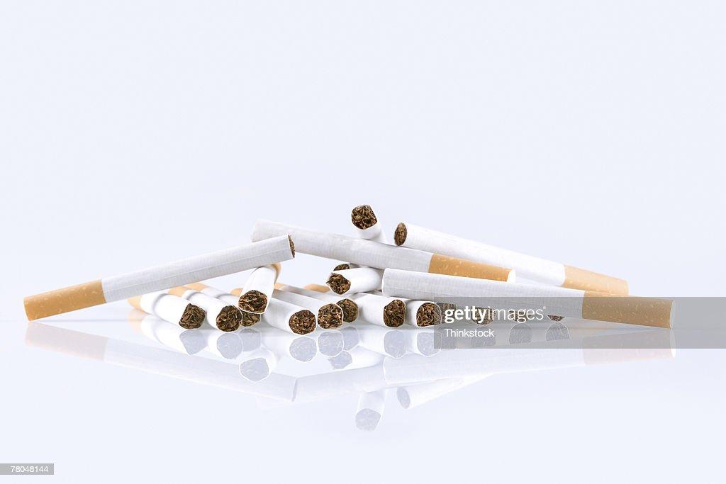 Pile of cigarettes : Stock Photo