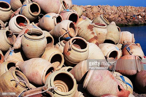 Pile of Clay Fishing Pots