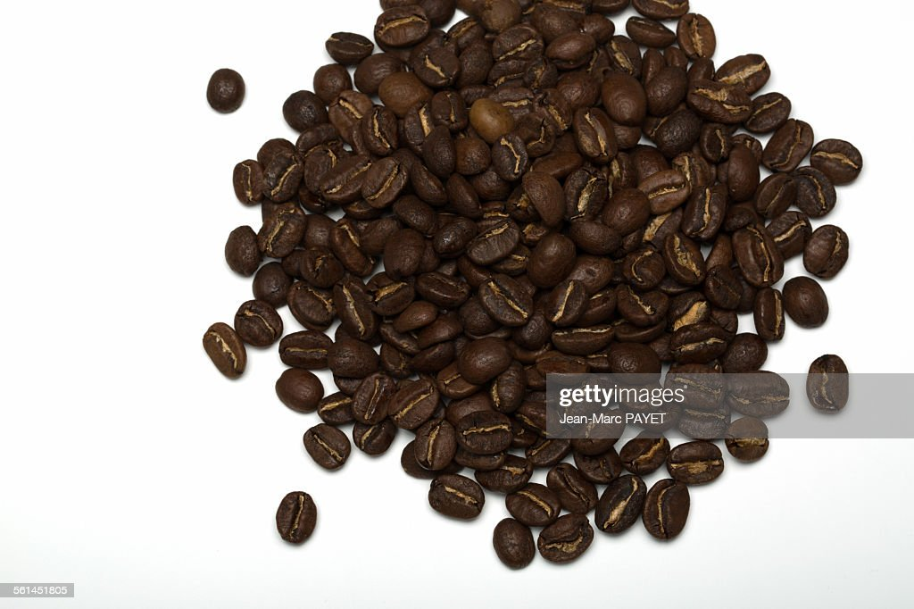 Pile of Coffee beans on a white background : Photo