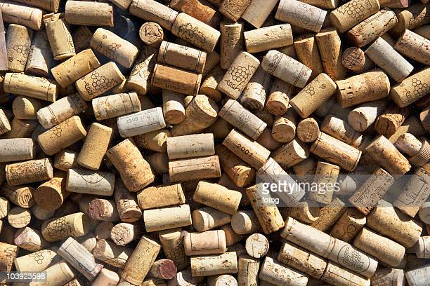 pile of corks - wine cork stock photos and pictures