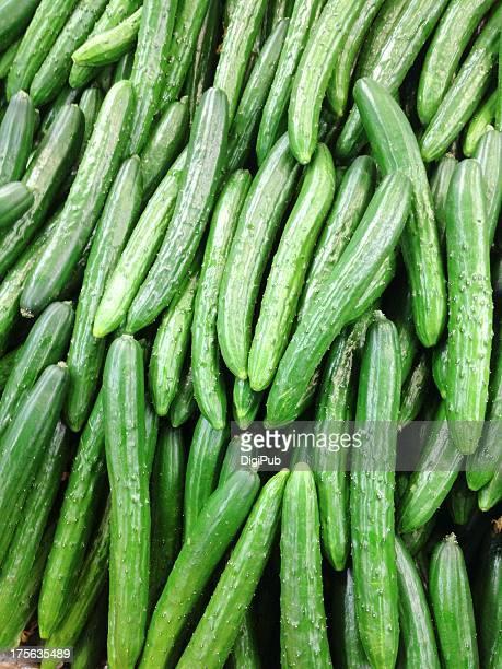 pile of cucumbers - キュウリ ストックフォトと画像
