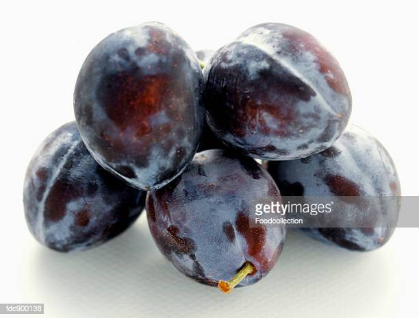 A Pile of Damson Plums