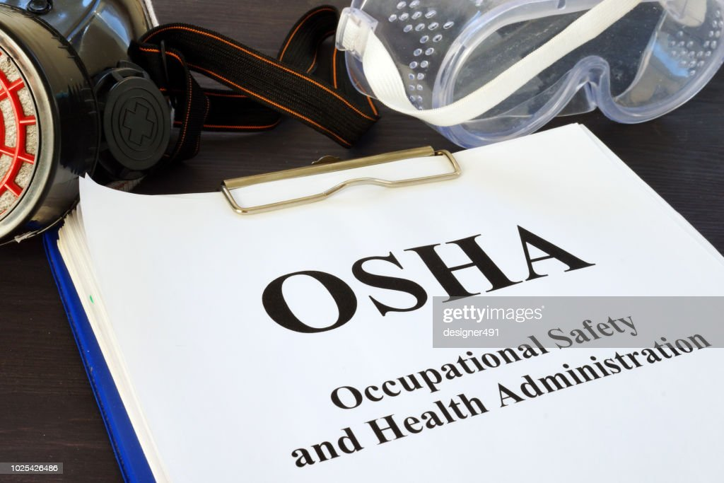 Pile of documents with Occupational Safety and Health Administration OSHA. : Stock Photo