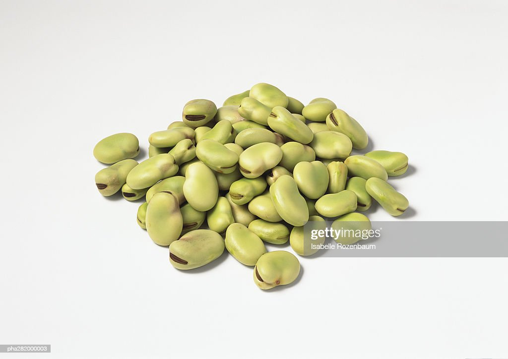 Pile of dried broad beans : Stockfoto
