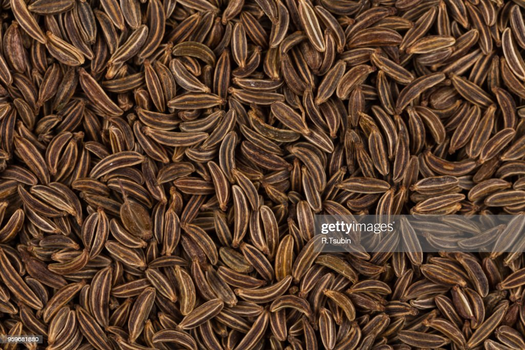 Pile of dry caraway seeds  as a background : Stock-Foto