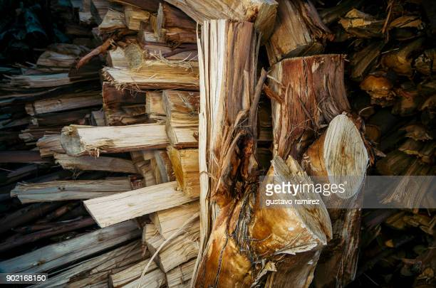 pile of dry firewood for fireplace