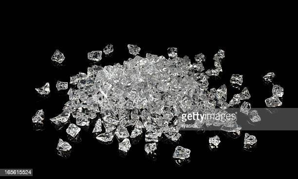 Pile of Faux Uncut Diamonds Isolated on a Black Background