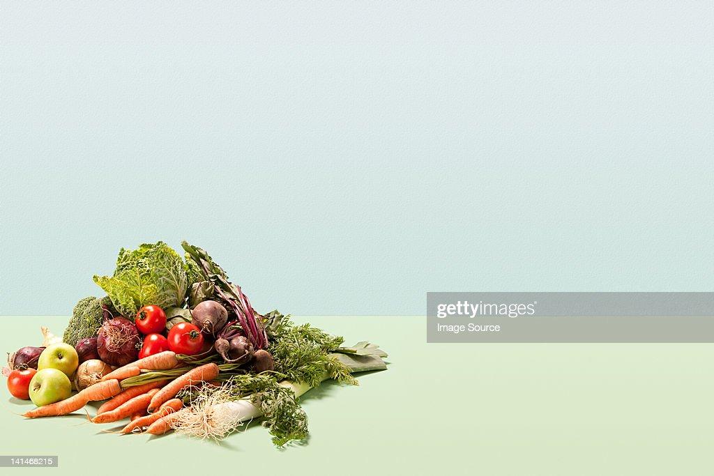 Pile of fresh vegetables : Stock Photo