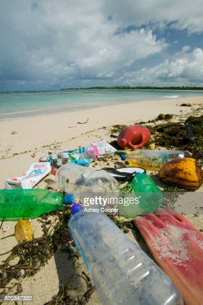 pile of garbage on nantandola beach - pacific islands stock pictures, royalty-free photos & images