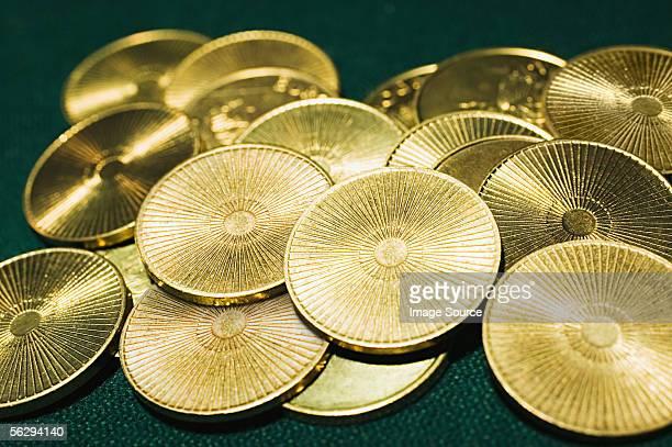 Tas de pièces d'or