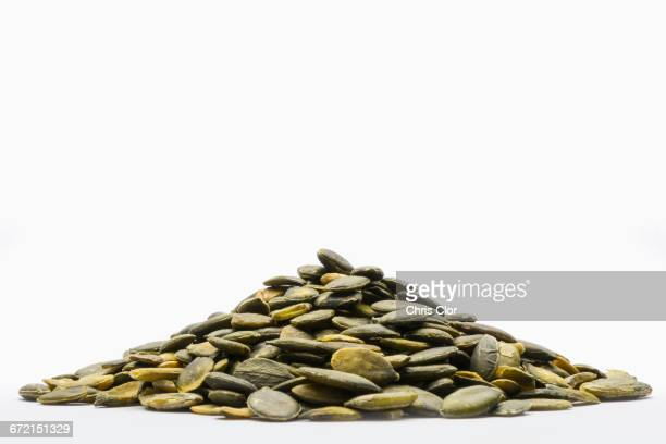 Pile of green seeds