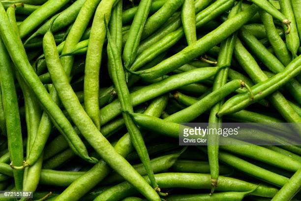 Pile of green string beans